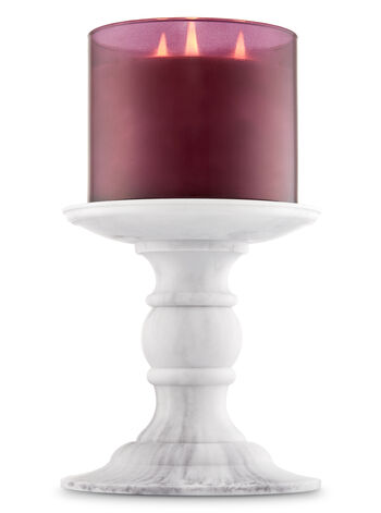 Faux Marble Pedestal 3-Wick Candle Holder - Bath And Body Works