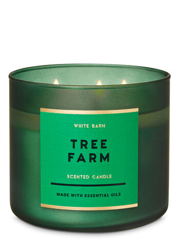White Barn Tree Farm 3-Wick Candle - Bath And Body Works
