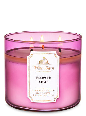White Barn Flower Shop 3-Wick Candle - Bath And Body Works