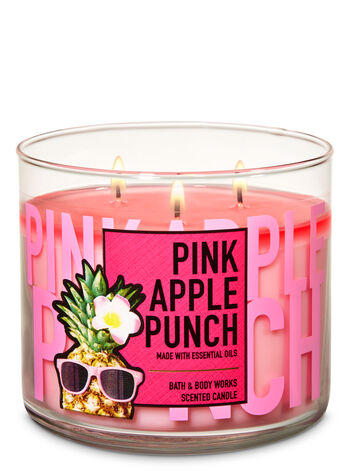 Pink Apple Punch 3-Wick Candle - Bath And Body Works