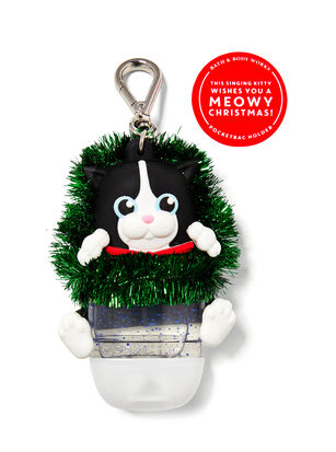Noise-Making Cat in Wreath PocketBac Holder