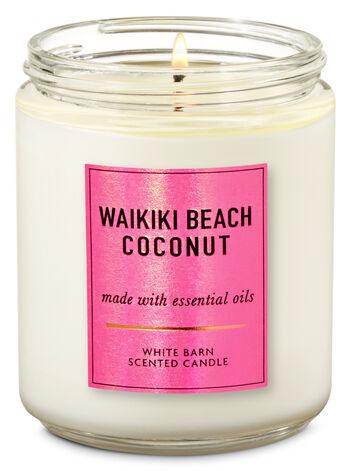 Waikiki Beach Coconut Single Wick Candle - Bath And Body Works