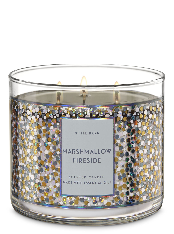 Bath /& Body Works 3-Wick Candle in Marshmallow Fireside