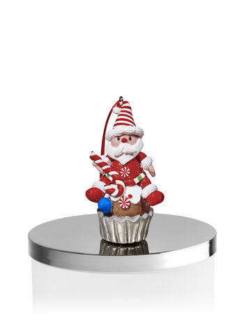 Santa Cupcake 3-Wick Candle Magnet - Bath And Body Works