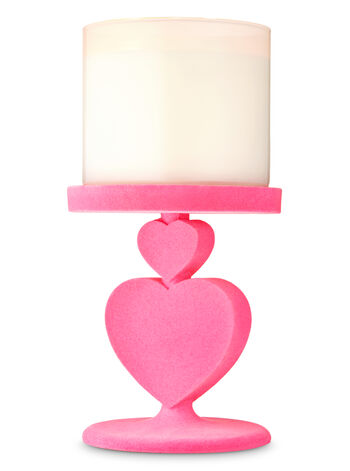Stacked Hearts Pedestal 3-Wick Candle Holder - Bath And Body Works