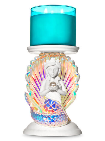 Mermaid Pedestal 3-Wick Candle Holder - Bath And Body Works