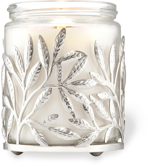 Silver Branches Single Wick Candle Holder