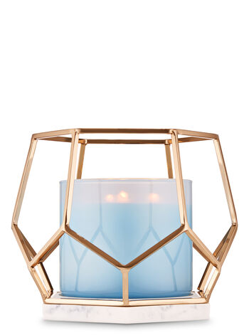 Metallic Hexagon 3-Wick Candle Holder - Bath And Body Works