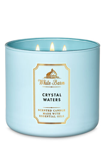 White Barn Crystal Waters 3-Wick Candle - Bath And Body Works