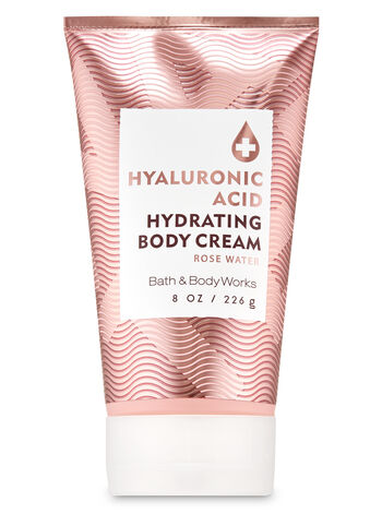 Rose Water Hyaluronic Acid Hydrating Body Cream - Bath And Body Works