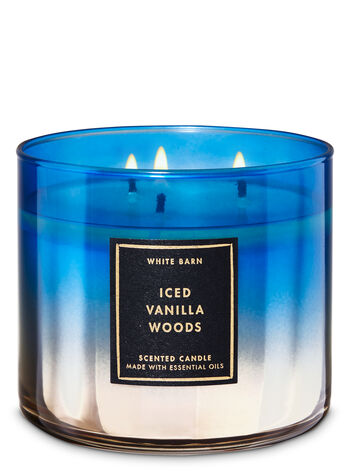 White Barn Iced Vanilla Woods 3-Wick Candle - Bath And Body Works