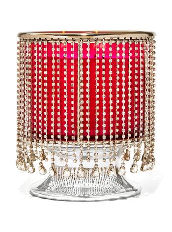 Dangling Gems Pedestal 3-Wick Candle Holders