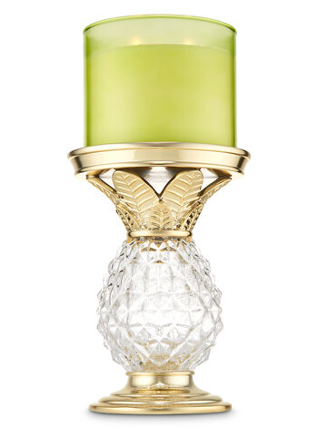 Glass Pineapple Pedestal 3-Wick Candle Holder - Bath And Body Works