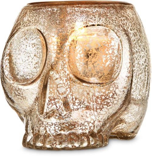 Skull Luminary Single Wick Candle Holder