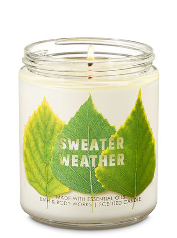 Sweater Weather Single Wick Candle - Bath And Body Works
