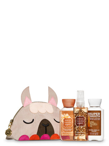 Warm Vanilla Sugar Llama Cosmetic Bag Gift Set
