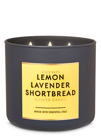 Lemon Lavender Shortbread 3-Wick Candle - Bath And Body Works