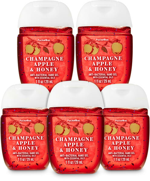 Champagne Apple & Honey PocketBac Hand Sanitizer, 5-Pack