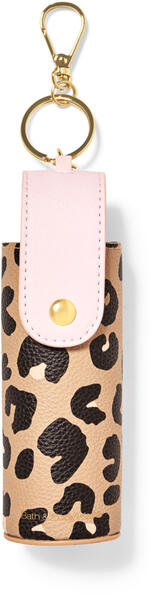 Cheetah Snap Case Hand Sanitizer Spray Holder