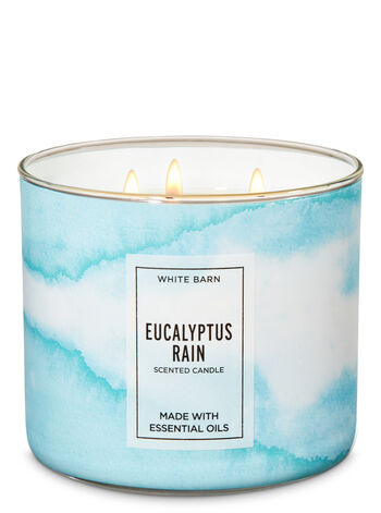 White Barn Eucalyptus Rain 3-Wick Candle - Bath And Body Works