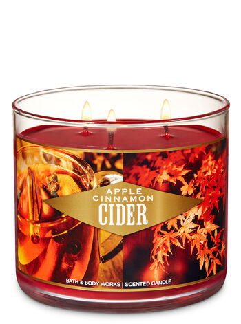 Apple Cinnamon Cider 3-Wick Candle - Bath And Body Works