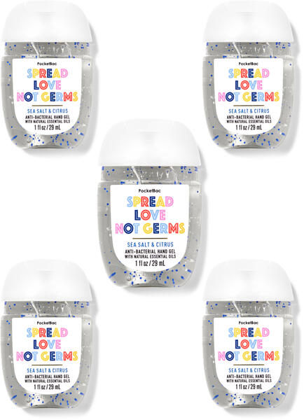 Sea Salt & Citrus PocketBac Hand Sanitizers, 5-Pack