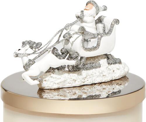 Santa & Reindeer 3-Wick Candle Magnet