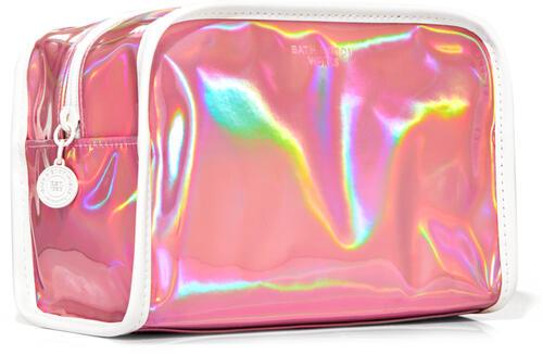 Pink Iridescent Cosmetic Bag
