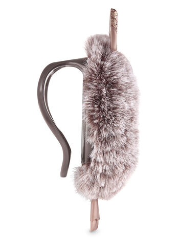 Fuzzy Reindeer Visor Clip Car Fragrance Holder