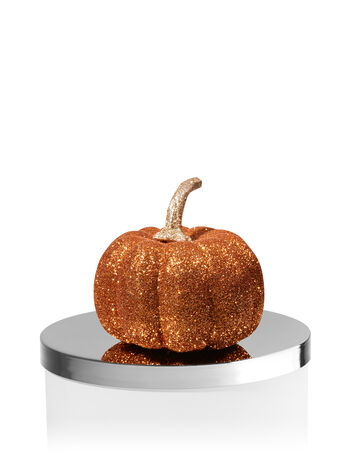 Glittery Orange Pumpkin Candle Magnet - Bath And Body Works