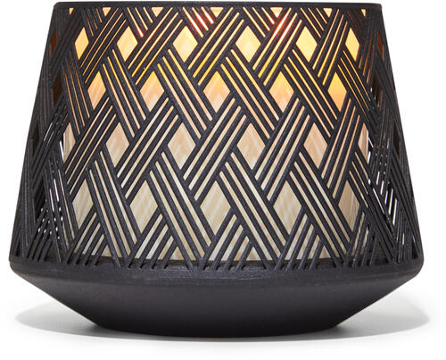 Basketweave with Base 3-Wick Candle Holder