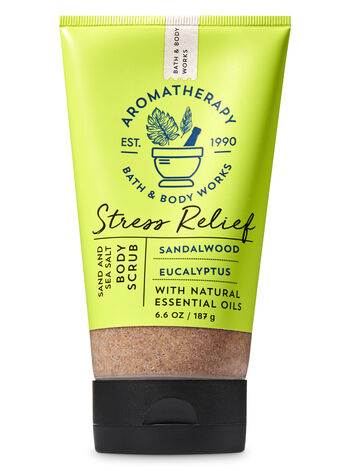 Aromatherapy Sandalwood Eucalyptus Sand & Sea Salt Body Scrub - Bath And Body Works