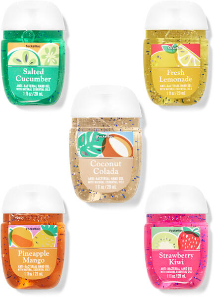 Just So Summer PocketBac Hand Sanitizers, 5-Pack