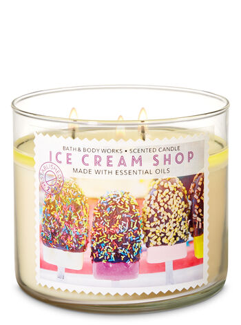 Ice Cream Shop 3-Wick Candle - Bath And Body Works