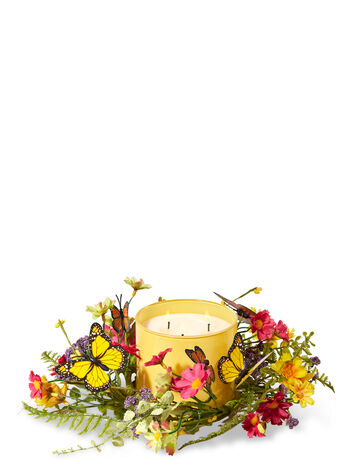 Butterfly 3-Wick Candle Ring - Bath And Body Works