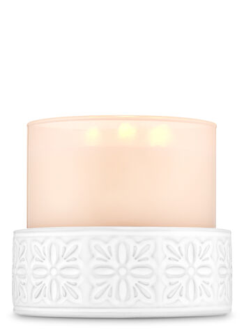 Flower Ceramic 3-Wick Candle Holder - Bath And Body Works