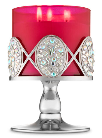 Glittery Gemstone Pedestal 3-Wick Candle Holder - Bath And Body Works