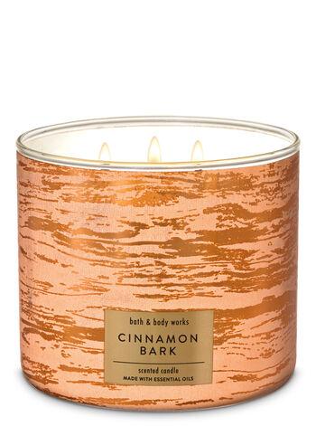 Cinnamon Bark 3-Wick Candle - Bath And Body Works