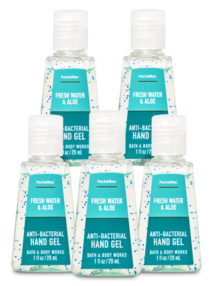 Fresh Water & Aloe PocketBac Hand Sanitizer, 5-Pack