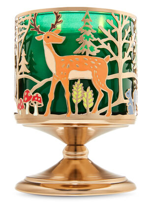 Forest Friends Pedestal 3-Wick Candle Holder