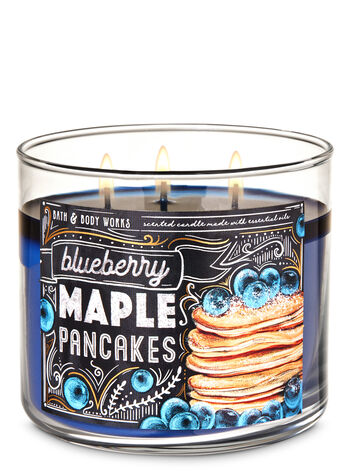 Blueberry Maple Pancakes 3-Wick Candle - Bath And Body Works