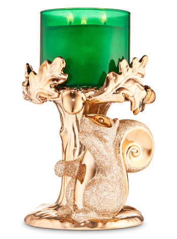 Squirrel Pedestal 3-Wick Candle Holder - Bath And Body Works