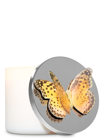 Yellow Butterfly 3-Wick Candle Magnet - Bath And Body Works