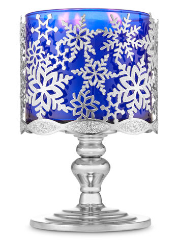 Glittery Snowflakes Pedestal 3-Wick Candle Holder - Bath And Body Works