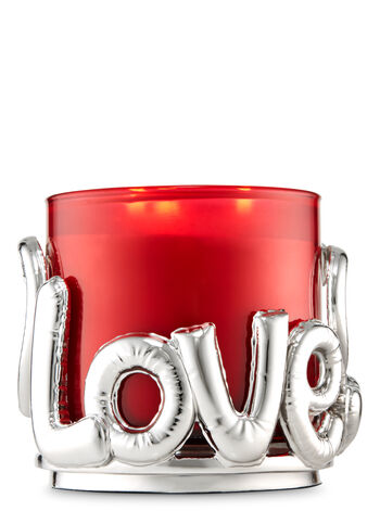Love & Hearts 3-Wick Candle Holder