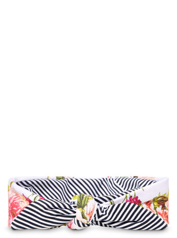 Reversible Floral & Stripes Spa Head Wrap