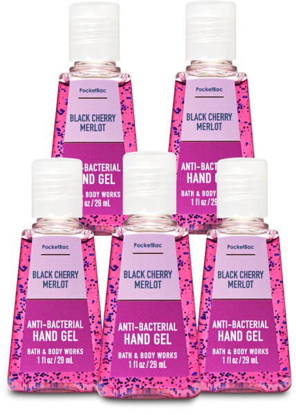 Black Cherry Merlot PocketBac Hand Sanitizer, 5-Pack