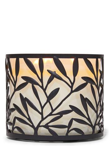 Vine Leaf 3-Wick Candle Holder