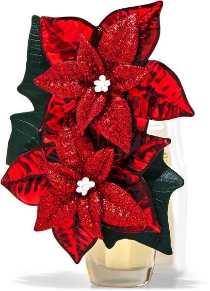 Glittery Poinsettia Wallflowers Fragrance Plug