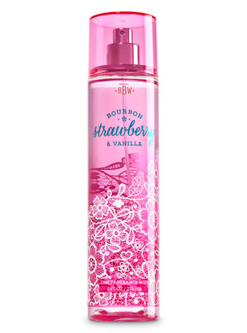 Signature Collection Bourbon Strawberry & Vanilla Fine Fragrance Mist - Bath And Body Works